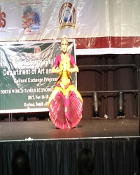 Performance at 4th world tamil economic conference durban , South Africa